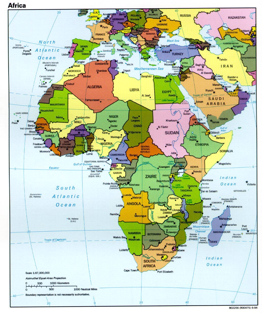 africa map english