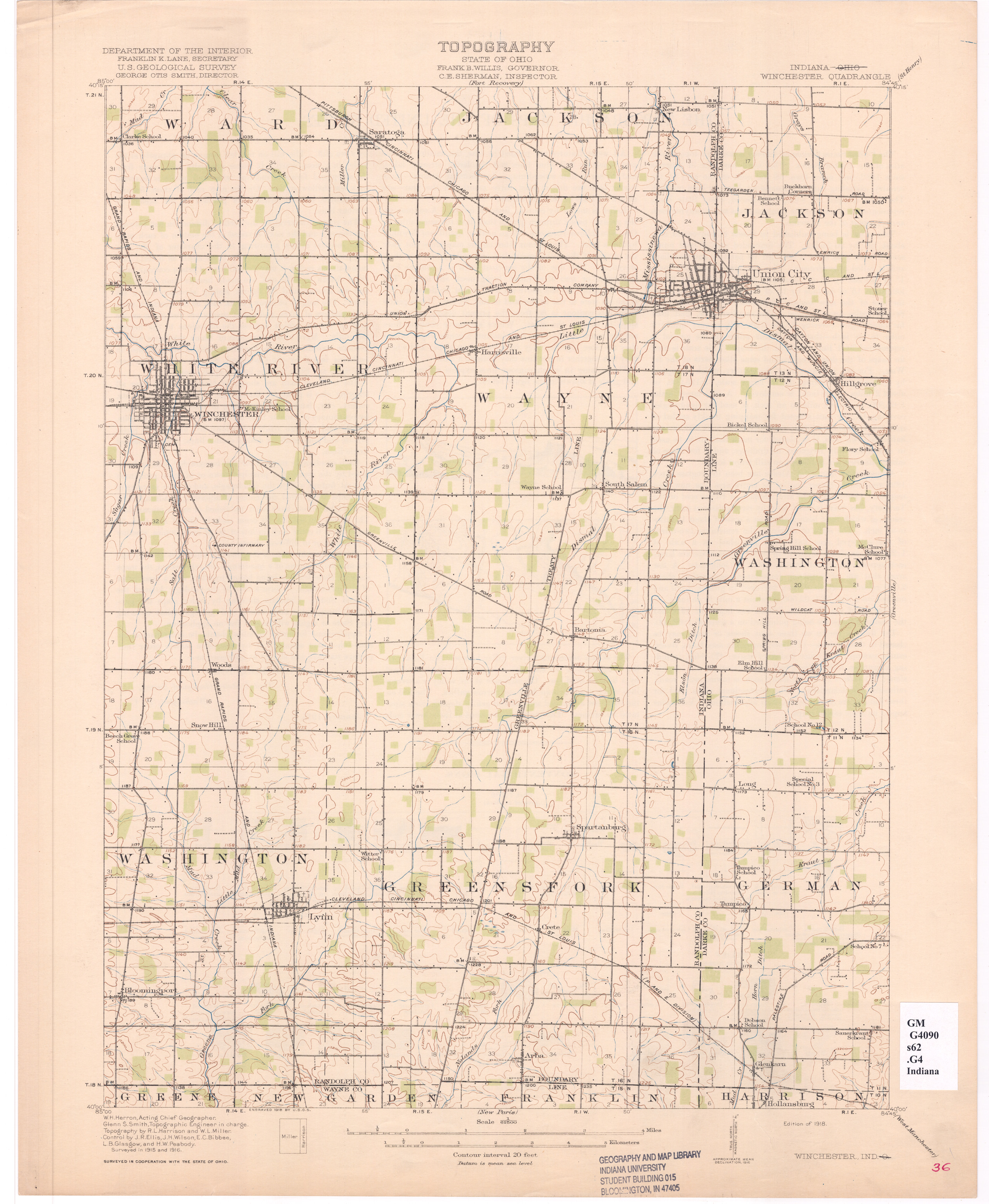 Topographic maps indiana university libraries