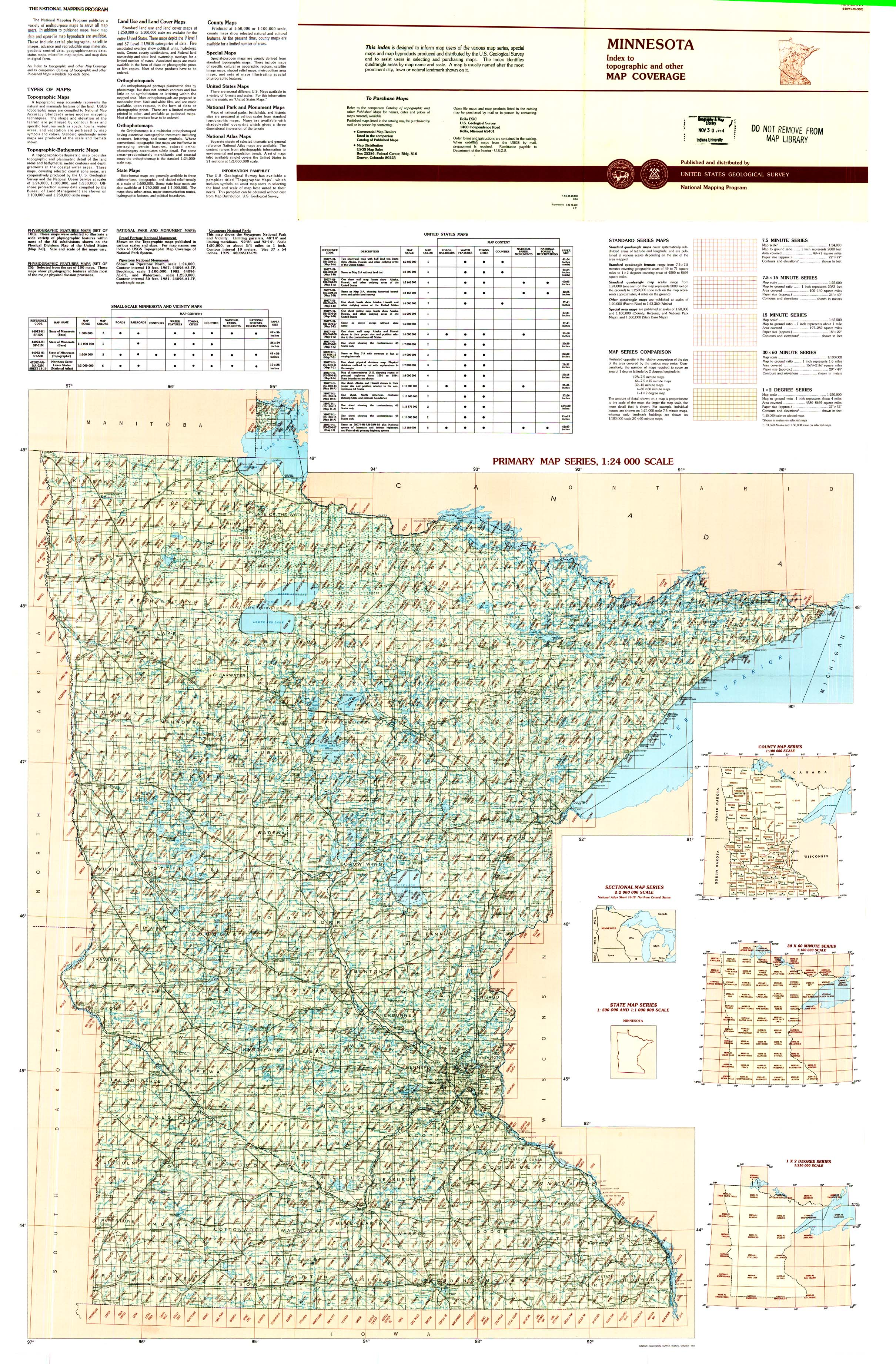 Topographic Maps Indexes: Surrounding States | Indiana University ...