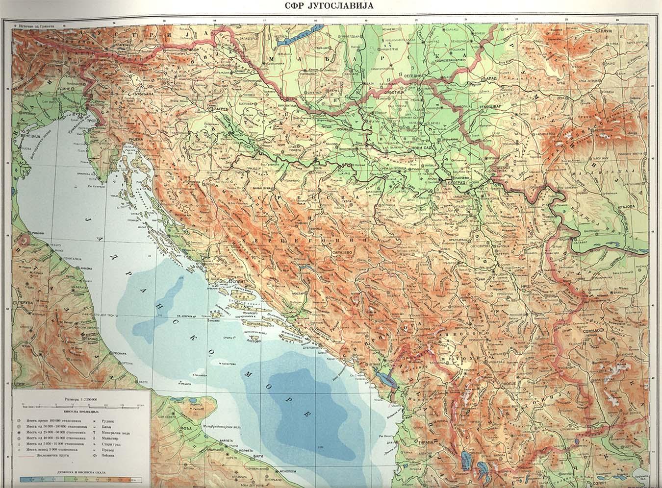 Maps: World Map Yugoslavia