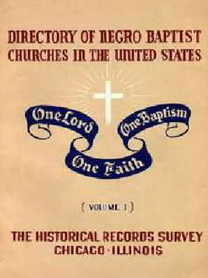 "Cover of ""Directory of Negro Baptist churches in United States."""