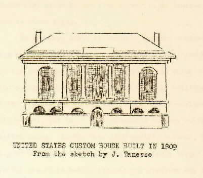 "Drawing of a U.S. Custom House from, ""History of the U.S. Custom House, New Orleans."""