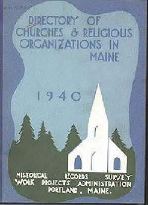 "Cover of ""Directory of churches and religious organizations in Maine, 1940."""