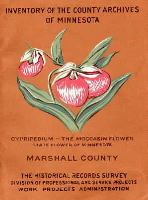 "Cover of ""Inventory of County Archives of Minnesota, Marshall County."""